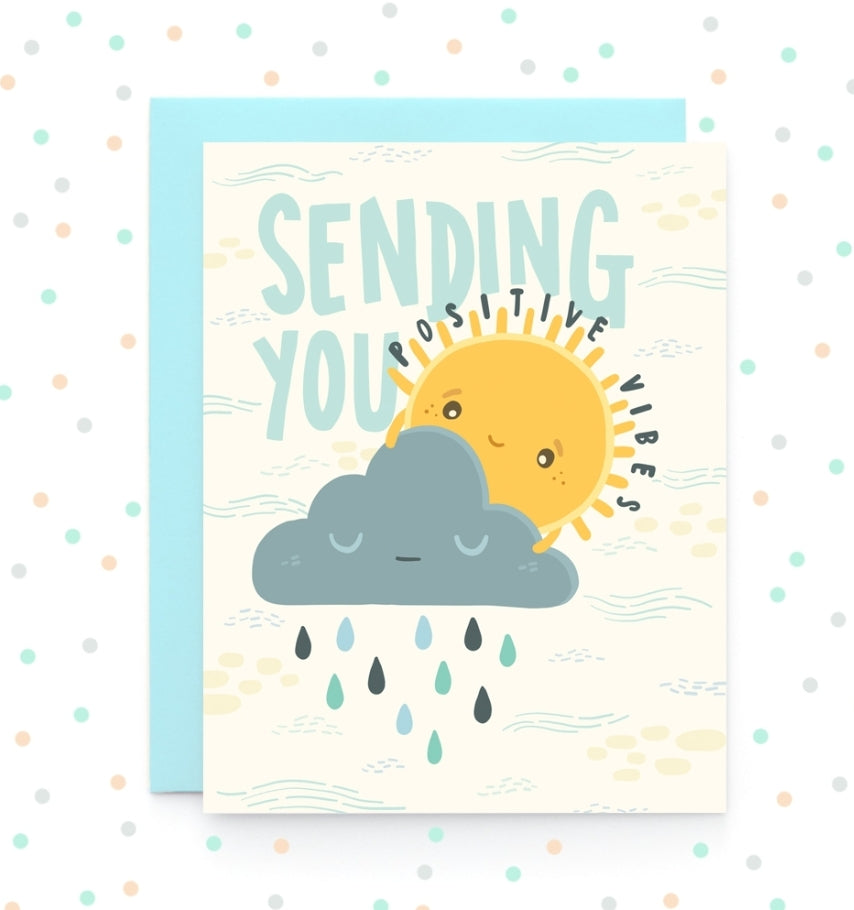 Positive Vibes - Greeting Card