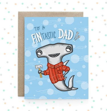 Fintastic Dad Shark - Greeting Card