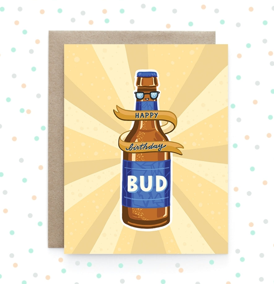 Birthday Bud - Greeting Card