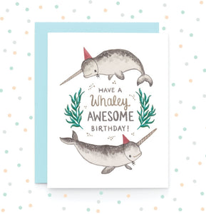 Whaley Awesome Birthday - Greeting Card