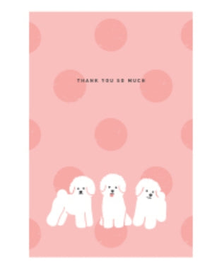 Thank You So Much (Bichon) Postcard