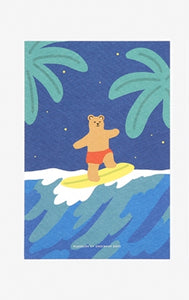 Surfing Bear Postcard