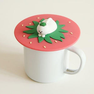 Silicone Mug Lid - Strawberry Cat