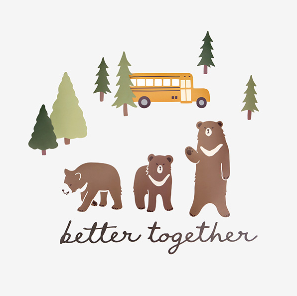 Bear and Trees Wall Decal Set