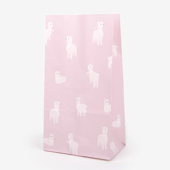Alpaca Pattern Paper Bag