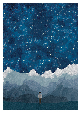 Alpine Night Sky Postcard