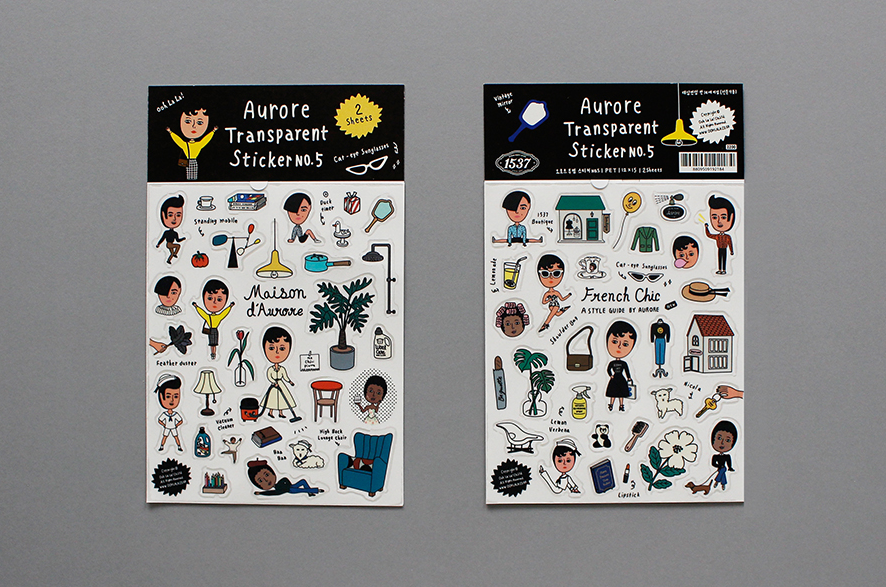 Aurore Transparent Sticker Set No. 5