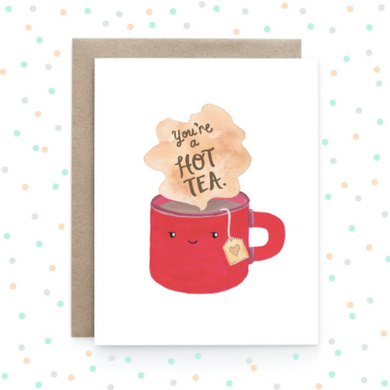 Hot Tea - Greeting Card
