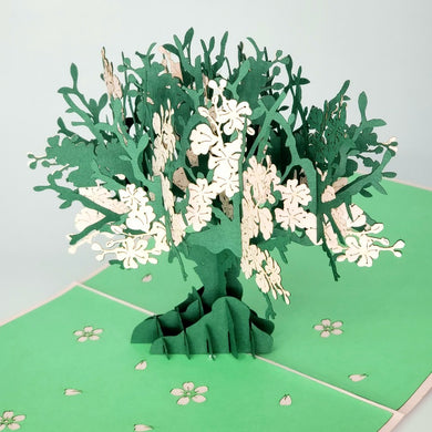 Pink Blossom Tree - Pop Up Card