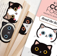 Load image into Gallery viewer, Cat Face Magnetic Bookmarks