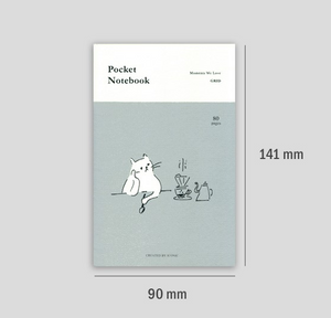 Grid Pocket Notebook - Waiting
