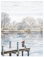 Load image into Gallery viewer, The Dock in Winter Postcard