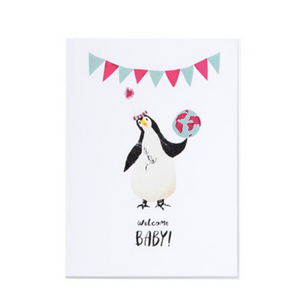 Welcome Baby! Penguin - Card