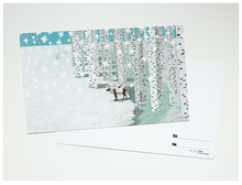 Load image into Gallery viewer, Elk in Birch Grove Postcard