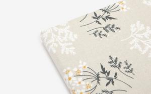 Fabric Covered Notebook - Lace Flower