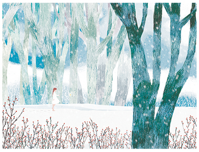 Forest in Winter Postcard
