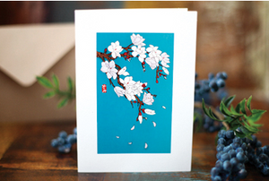 Magnolia Illustrated Floral Card