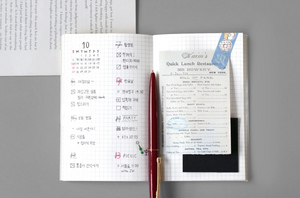Grid Pocket Notebook - Ice Cream