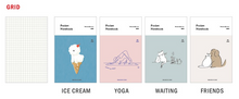 Load image into Gallery viewer, Grid Pocket Notebook - Ice Cream