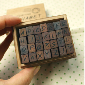 Handwriting Upper Case Stamp Set
