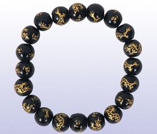 Load image into Gallery viewer, Onyx Dragon Bracelet
