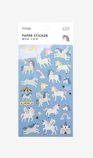 Unicorn Paper Sticker