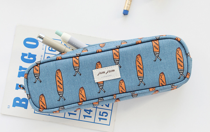 Jam Jam Piped Pencil Case - Baguette