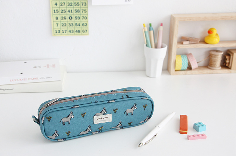 Jam Jam Piped Pencil Case - Donkey
