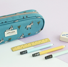 Load image into Gallery viewer, Jam Jam Piped Pencil Case - Donkey
