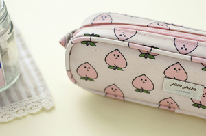 Jam Jam Piped Pencil Case - Peach