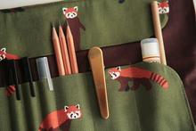 Load image into Gallery viewer, Lesser Panda Rolling Pen Case