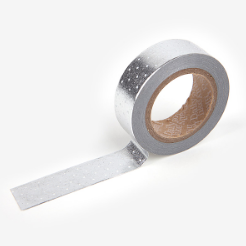 Silver Dot Washi Tape - 37