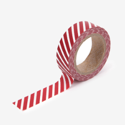 Red Oblique Stripe Washi Tape - 74