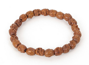 Enlightened Mind Jujube Skull Bracelet