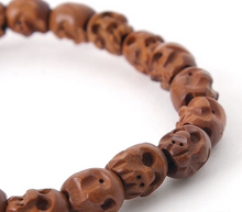 Load image into Gallery viewer, Enlightened Mind Jujube Skull Bracelet