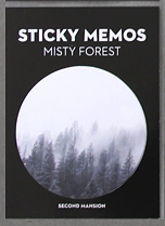 Circular Sticky Memo - Misty Forest