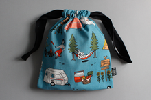 Load image into Gallery viewer, Camper and Rabbit String Pouch - Small