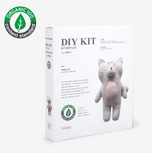 Load image into Gallery viewer, Terry Cloth Cat DIY Kit