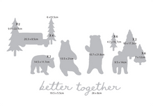 Load image into Gallery viewer, Bear and Trees Wall Decal Set