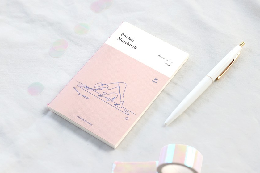Grid Pocket Notebook - Yoga