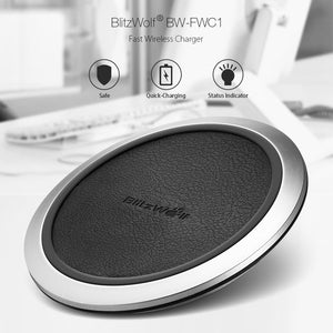 BlitzWolf Fast Charge Qi Wireless Charger for iPhone X 8 Plus Samsung S8 Note8
