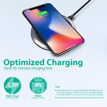 Load image into Gallery viewer, BlitzWolf Fast Charge Qi Wireless Charger for iPhone X 8 Plus Samsung S8 Note8