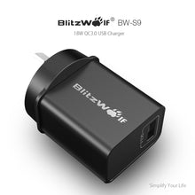 Load image into Gallery viewer, BlitzWolf 18W QC3.0 USB Wall Fast Charger Adapter AU Plug for Samsung, Apple