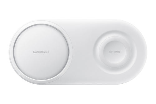 Samsung Fast Qi Wireless Charger Duo Pad - White