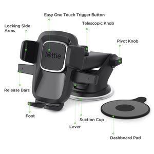 iOttie Easy One Touch 4 Dash & Windshield Car Mount Phone Holder Dock Cradle