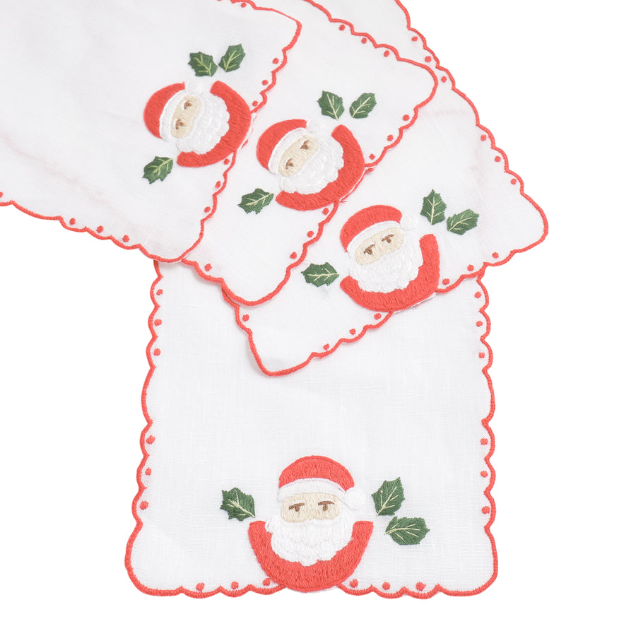 Vintage Santa Cocktail Napkins