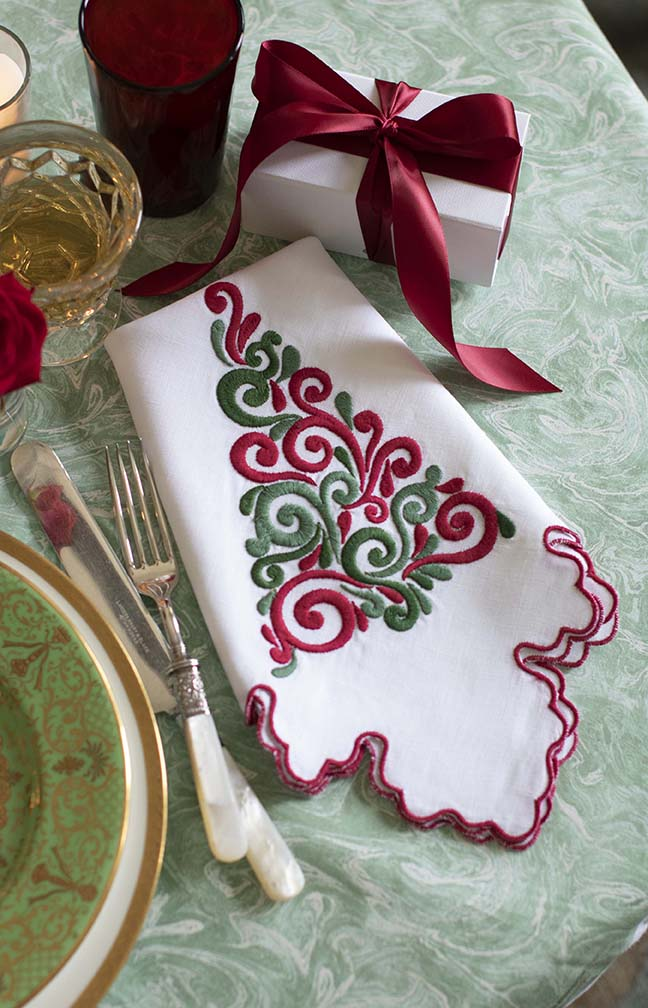 December Christmas Tree Napkin