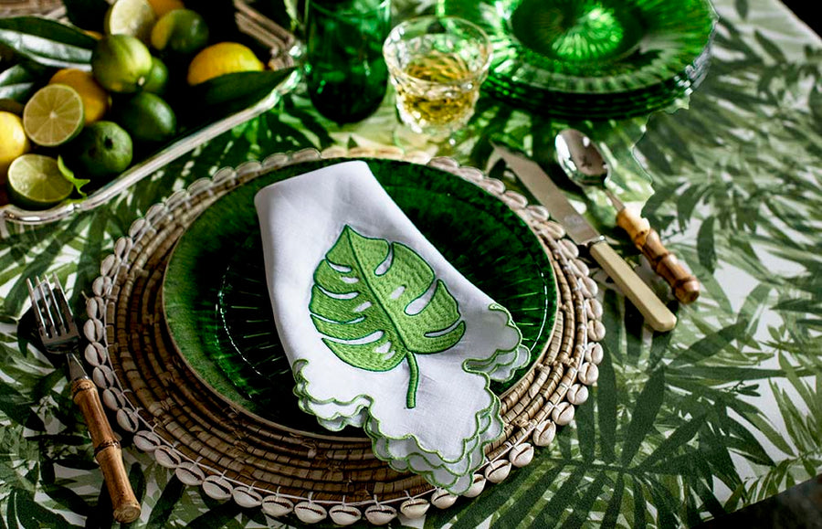 June Big Green Leaf Napkin
