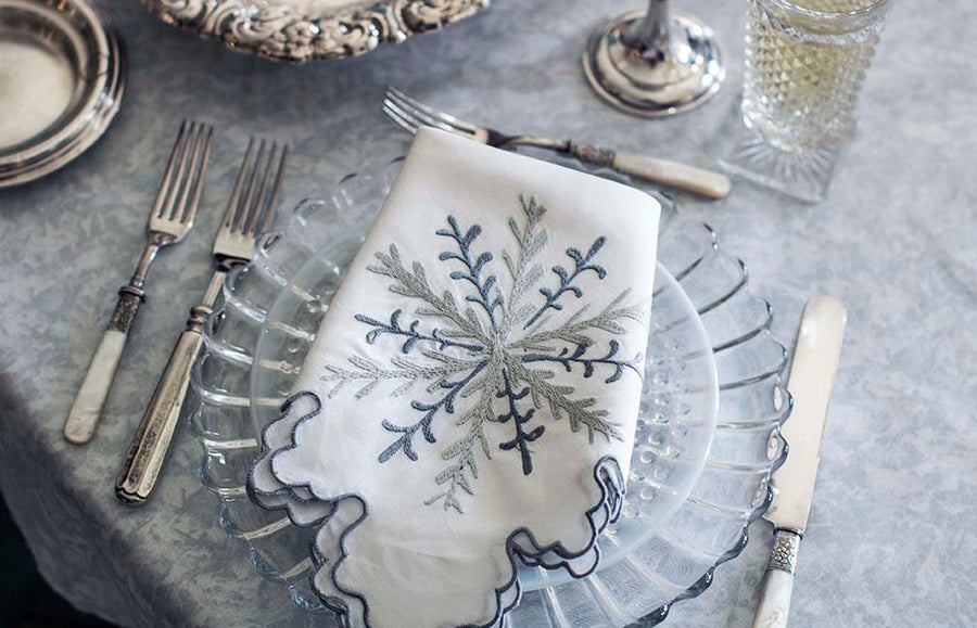 January Snowflake Napkin