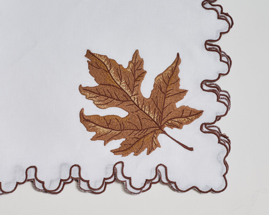 September Autumn Leaf Napkin
